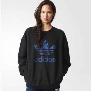 Adidas Hoodie with floral logo